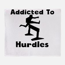 Addicted To Hurdles Throw Blanket
