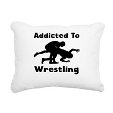 Addicted To Wrestling Rectangular Canvas Pillow