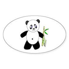 Lucky Panda Oval Decal
