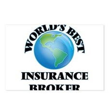 World's Best Insurance Br Postcards (Package of 8)