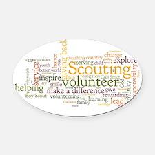 Scouting Volunteer Oval Car Magnet
