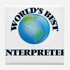 World's Best Interpreter Tile Coaster