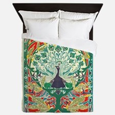Art Nouveau Peacock Queen Duvet