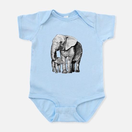 Drawn Elephant Body Suit