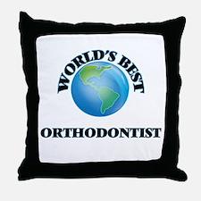 World's Best Orthodontist Throw Pillow