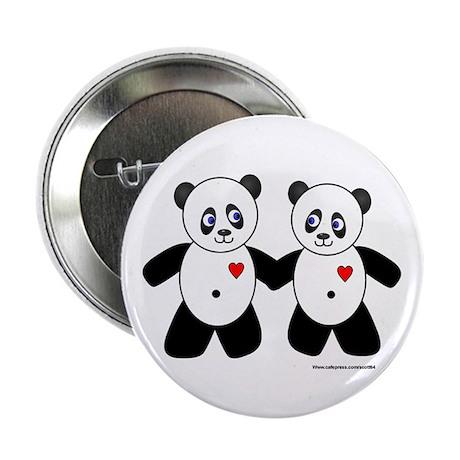 Panda Couple Button