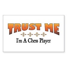 Trust Chess Player Rectangle Decal