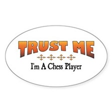 Trust Chess Player Oval Decal