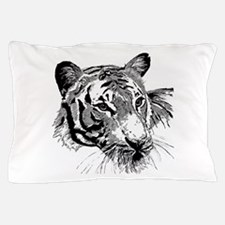 Drawn Tiger Pillow Case
