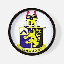 1st Battalion 48th Infantry Regiment.pn Wall Clock