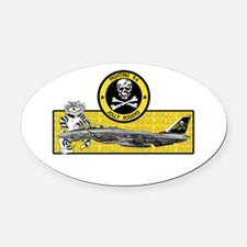 vf84shirt.jpg Oval Car Magnet