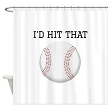 Id Hit That Baseball Shower Curtain