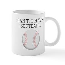 Cant I Have Softball Mugs