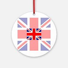 Union Jack Faded/Bold Round Ornament