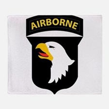 101st Airborne Division Throw Blanket