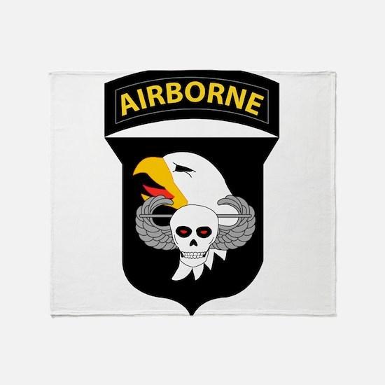 101st Airborne Division Throw Blanket