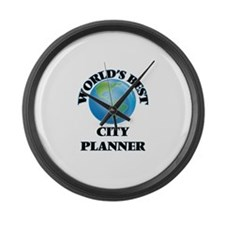 World's Best City Planner Large Wall Clock
