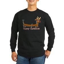 Merry Christmas Dachshund Long Sleeve T-Shirt