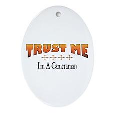 Trust Cameraman Oval Ornament