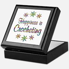 Happiness is Crocheting Keepsake Box