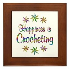 Happiness is Crocheting Framed Tile