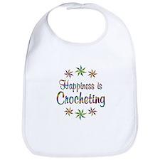 Happiness is Crocheting Bib