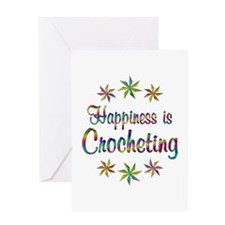 Happiness is Crocheting Greeting Card