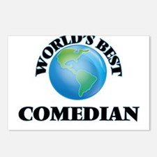 World's Best Comedian Postcards (Package of 8)