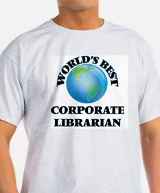 World's Best Corporate Librarian T-Shirt