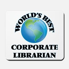 World's Best Corporate Librarian Mousepad