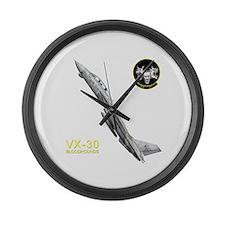 vx30logo10x10_apparel copy.png Large Wall Clock