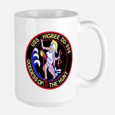 DD-806 USS HIGBEE Destroyer Ship Military Pat Mugs