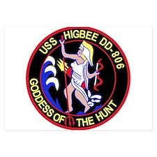 DD-806 USS HIGBEE Destroyer Ship Milit Invitations