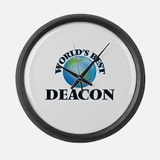 World's Best Deacon Large Wall Clock