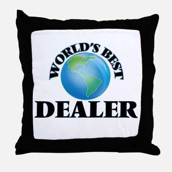 World's Best Dealer Throw Pillow