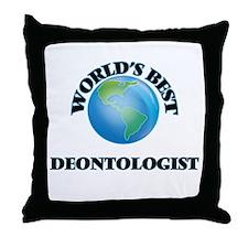 World's Best Deontologist Throw Pillow