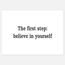 The First Step: Believe In Yourself Invitations