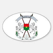 Burkina Faso Coat of Arms Oval Decal