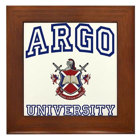 ARGO University Framed Tile
