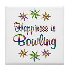 Happiness is Bowling Tile Coaster