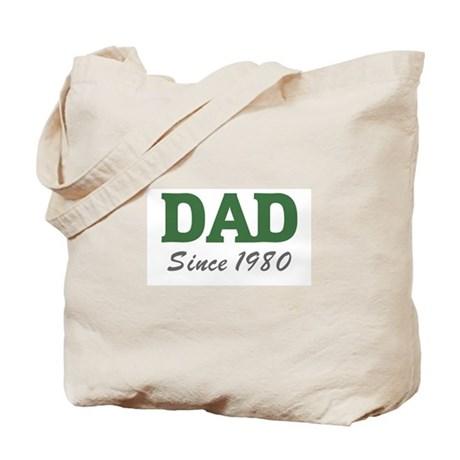Dad since 1980 (green) Tote Bag