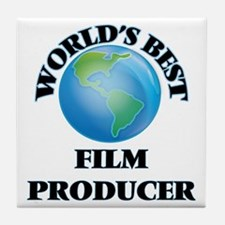 World's Best Film Producer Tile Coaster