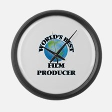 World's Best Film Producer Large Wall Clock