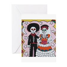 Cute Mexican sugar skulls Greeting Cards (Pk of 10)