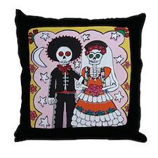 Cute Muertos Throw Pillow
