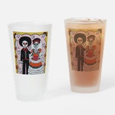 Cool Folk art Drinking Glass