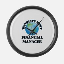 World's Best Financial Manager Large Wall Clock