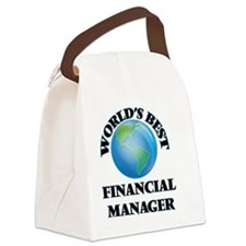 World's Best Financial Manager Canvas Lunch Bag