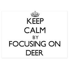 Keep Calm by focusing on Deer Invitations