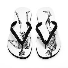 Laughing Skeletons Flip Flops